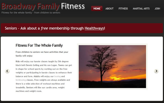 Broadway Family Fitness portfolio