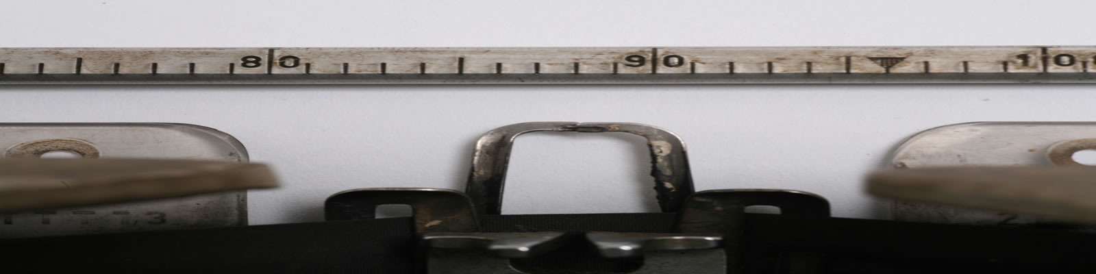 Close-up of a typewriter