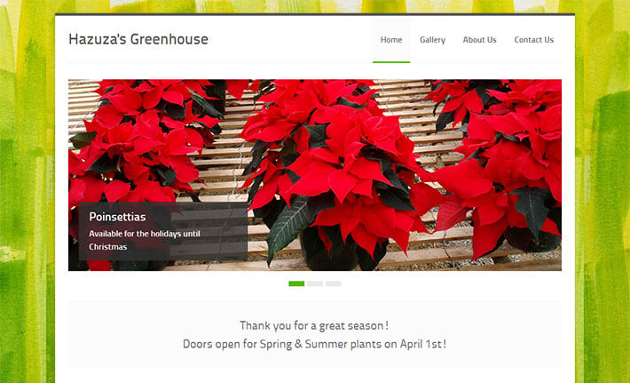 Hazuzas Greenhouse Home Page